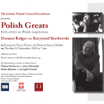 Polish Greats series - Dermot Bolger on K. Kieslowski