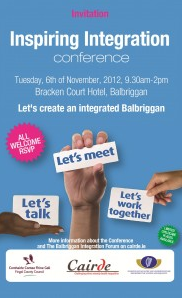Inspiring Integration Conference Tuesday, 6th of November