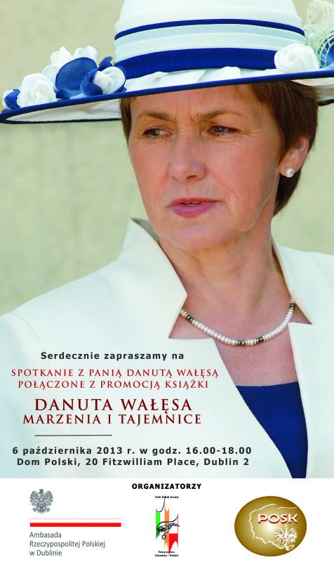 Plakat - spotkanie z D. Walesa - 06-10-2013