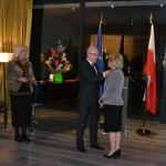 Charge d'Affairs a.i. Piotr Rakowski awards Ms. Irena Suchecka with the Silver Cross of Merit