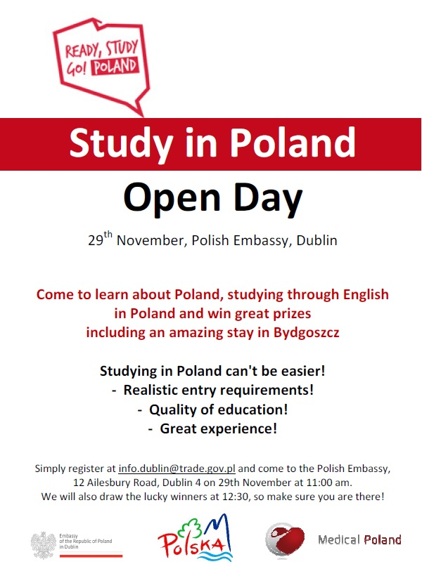 Study in Poland! An Open Day at the Embassy of Poland
