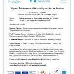 Migrant Entrepreneurs Networking and Advice Seminar