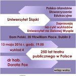 250 lat teatru publicznego w Polsce - wykład w Domu Polskim