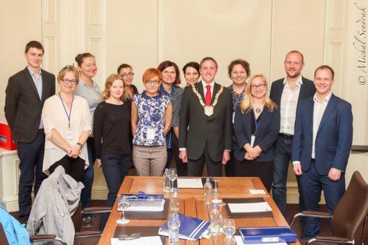 Uczestnicy pierwszej edycji szkoleń dla lokalnych liderów (wrzesień 2016, Dublin). Fotografia - Michał Sendrak.