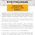 Zaangażowanie migrantów w politykę - ZAPROSZENIE