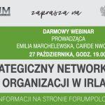 """Webinarium """"Strategiczny networking dla organizacji w Irlandii"""" 27 października, 19:00"""